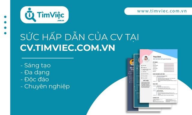 Tạo CV tiếng Anh online chuyên nghiệp với Cv.timviec.com.vn - 1