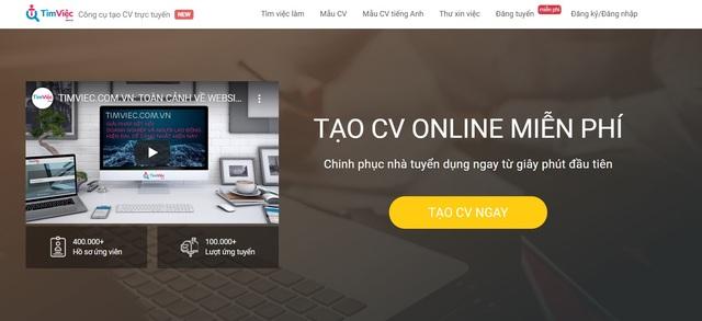 Tạo CV tiếng Anh online chuyên nghiệp với Cv.timviec.com.vn - 2