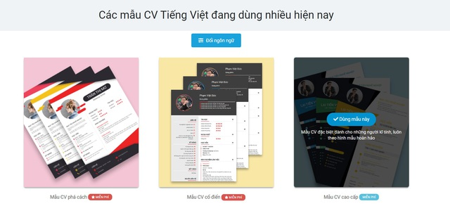 Tạo CV tiếng Anh online chuyên nghiệp với Cv.timviec.com.vn - 5