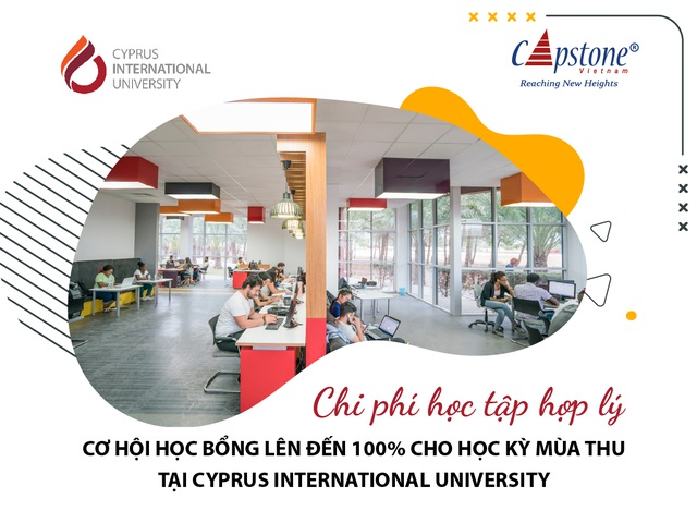 Chi phí học tập hợp lý cùng cơ hội học bổng 100% tại Cyprus International University - 1