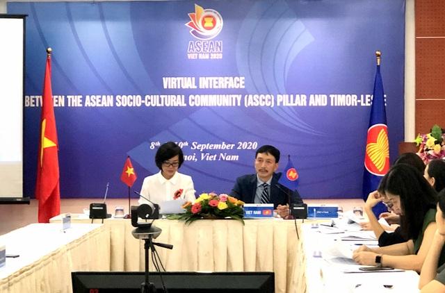Hội nghị trực tuyến của Cộng đồng văn hóa - xã hội ASEAN với Đông Timor - 1