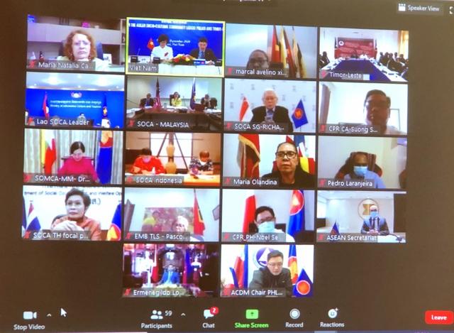 Hội nghị trực tuyến của Cộng đồng văn hóa - xã hội ASEAN với Đông Timor - 2