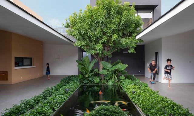 """""""Ốc đảo xanh"""" ẩn mình giữa 8 khối nhà trong căn biệt thự 1000m2 ở Sài Gòn - 4"""