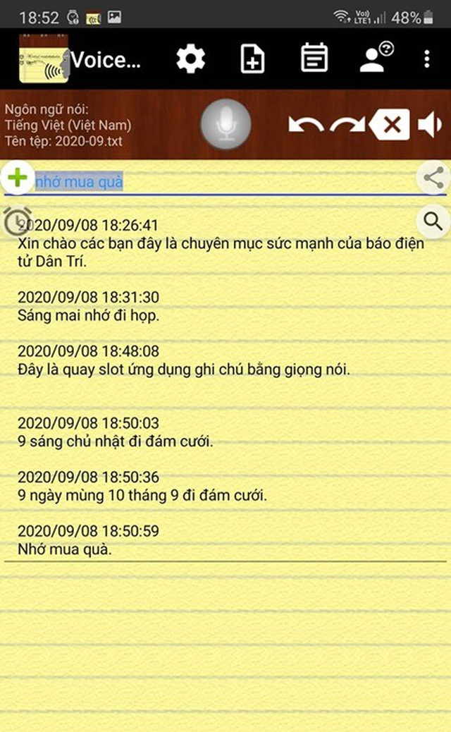 Ứng dụng hữu ích giúp tạo ghi chú bằng giọng nói, có hỗ trợ tiếng Việt - 1