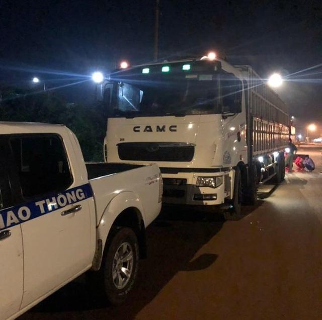 CSGT Đồng Nai ra quân xử lý xe quá tải lộng hành đêm khuya - 1