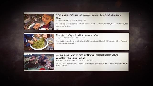 """Kinh hãi trào lưu """"ăn tươi nuốt sống"""" ghê rợn trên YouTube - 2"""