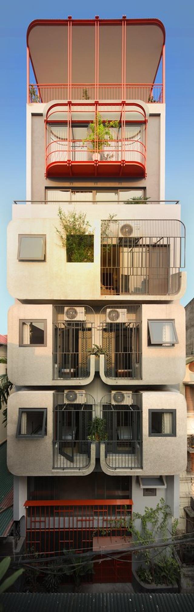 Nhà 7 tầng ở Hà Nội đẹp như tranh, mỗi phòng một phong cách độc đáo - 1