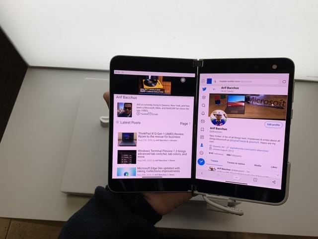 Chùm ảnh thực tế chiếc smartphone 2 màn hình Surface Duo của Microsoft - 11