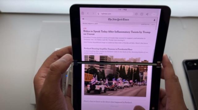 Chùm ảnh thực tế chiếc smartphone 2 màn hình Surface Duo của Microsoft - 12