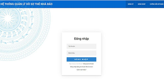 Bộ TTTT cho phép khai hồ sơ cấp đổi thẻ nhà báo online - 2