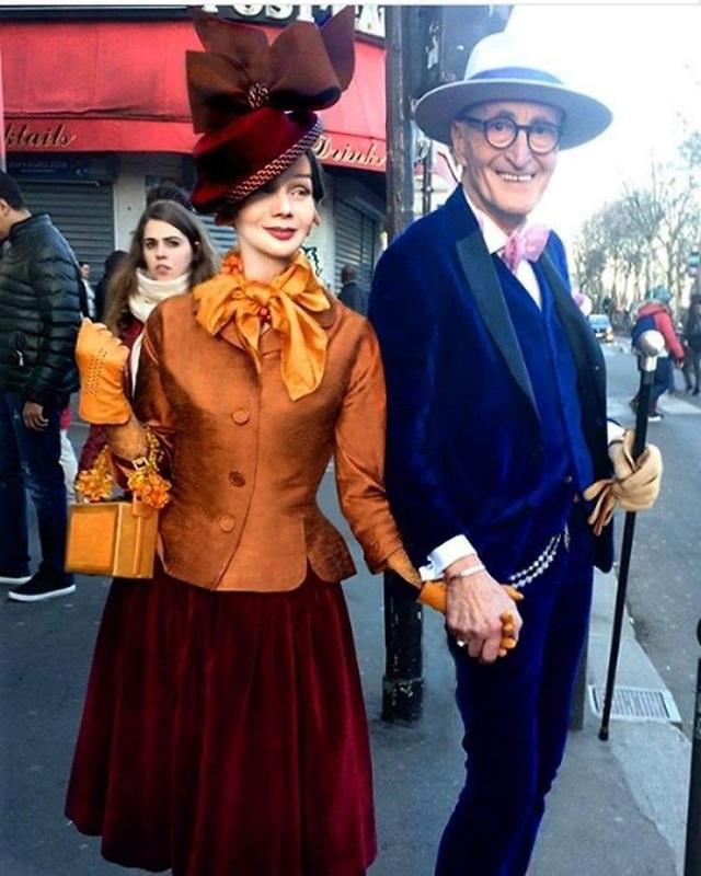 """Hai ông bà cụ gây sốt mỗi lần xuống phố vì ăn mặc quá... """"bảnh"""" - 17"""