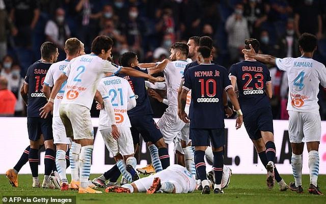 Neymar và 4 cầu thủ nhận thẻ đỏ sau màn hỗn chiến ở trận PSG-Marseille - 6