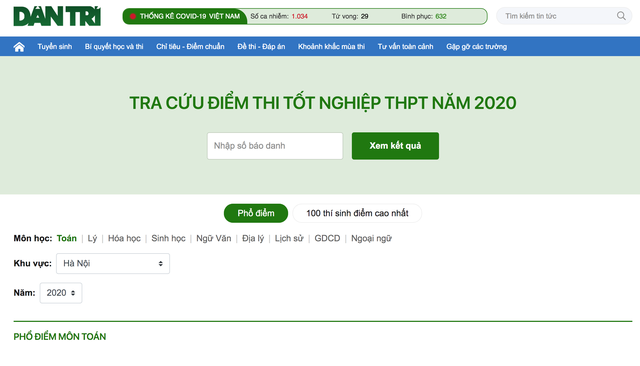 Chính thức công bố điểm thi tốt nghiệp THPT 2020 đợt 2 - 1