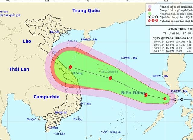 Áp thấp khả năng mạnh lên thành bão đã vào Biển Đông - 1