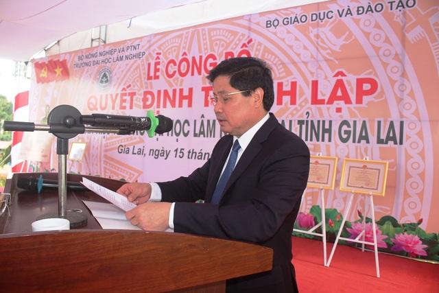 Công bố Quyết định thành lập Phân hiệu Đại học Lâm nghiệp tại tỉnh Gia Lai - 5