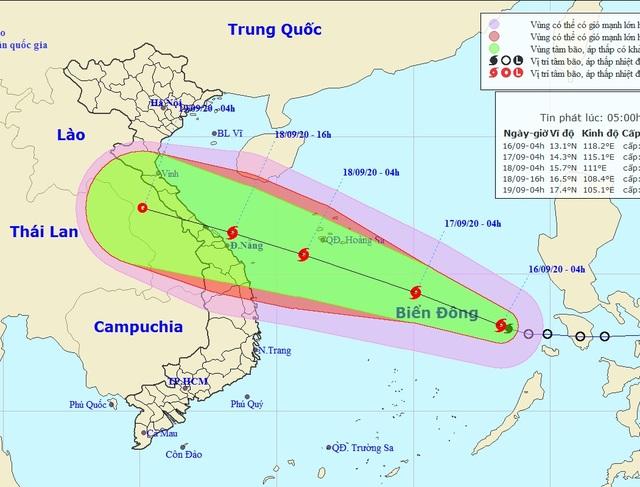 Hình thành bão số 5 trên Biển Đông - 1