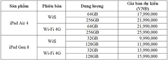 Giá bán iPad Air 4 và Apple Watch 6 tại thị trường Việt Nam - 2