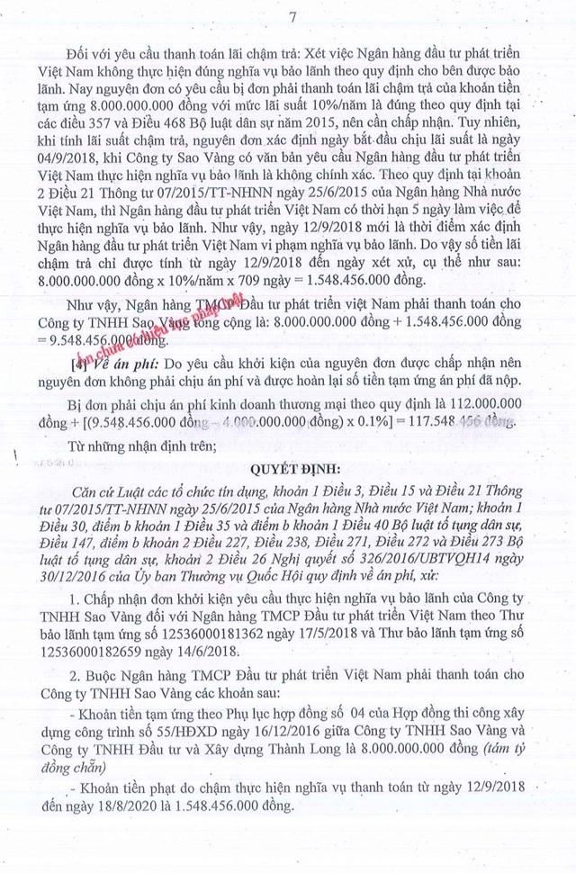 Tại sao Toà tuyên Ngân hàng BIDV thua kiện, phải trả hơn 9,5 tỷ đồng? - 2