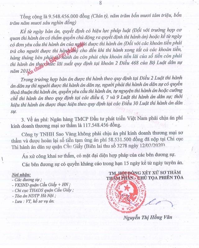 Tại sao Toà tuyên Ngân hàng BIDV thua kiện, phải trả hơn 9,5 tỷ đồng? - 3