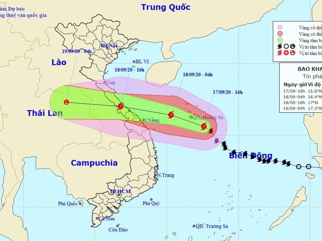 Bão số 5 giảm cấp độ khi vào bờ, cảnh báo các tỉnh miền Trung mưa rất to - 2