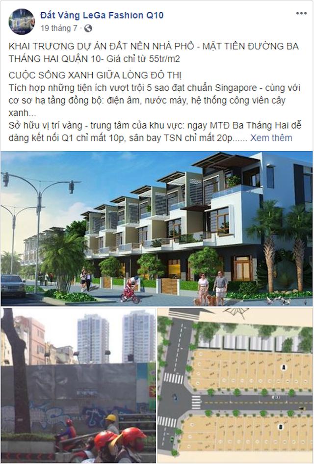 """UBND Quận 10, TPHCM cảnh báo dự án mang tên """"Đất vàng LeGa Fashion"""" - 1"""