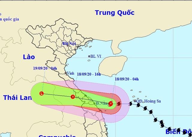 Bão số 5 đã vào vùng biển Quảng Bình - Quảng Nam, nhiều nơi sẽ mưa rất to - 1