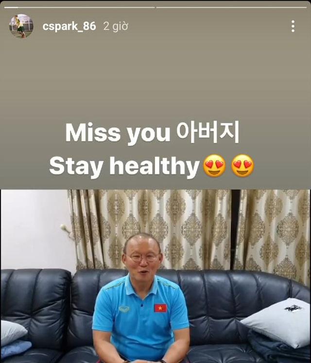 HLV Park Hang Seo nhận quà sinh nhật sớm từ con trai - 1