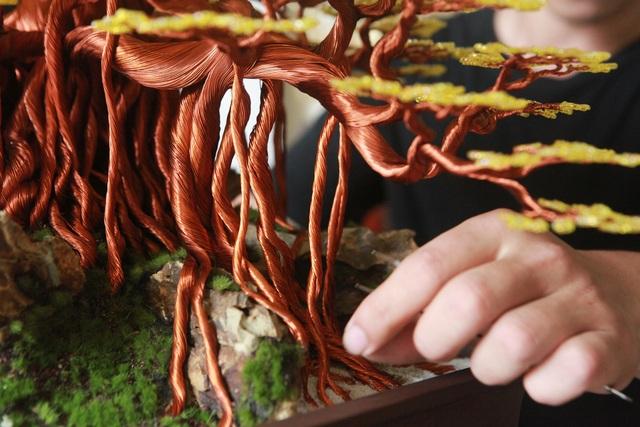 """Chiêm ngưỡng """"siêu cây"""" làm từ dây đồng, gắn hạt cườm, lớn nhất Việt Nam - 4"""