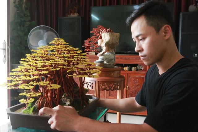 """Chiêm ngưỡng """"siêu cây"""" làm từ dây đồng, gắn hạt cườm, lớn nhất Việt Nam - 6"""