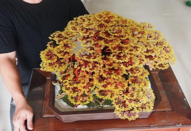 """Chiêm ngưỡng """"siêu cây"""" làm từ dây đồng, gắn hạt cườm, lớn nhất Việt Nam - 8"""
