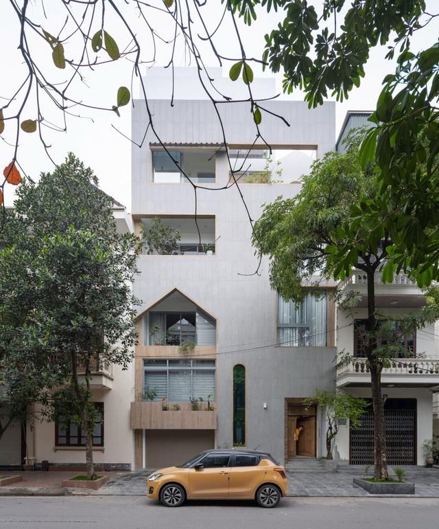 Nhà phố Nam Định nổi bật nhất phố, nhìn xa như gói gọn trong 1 chiếc hộp - 1
