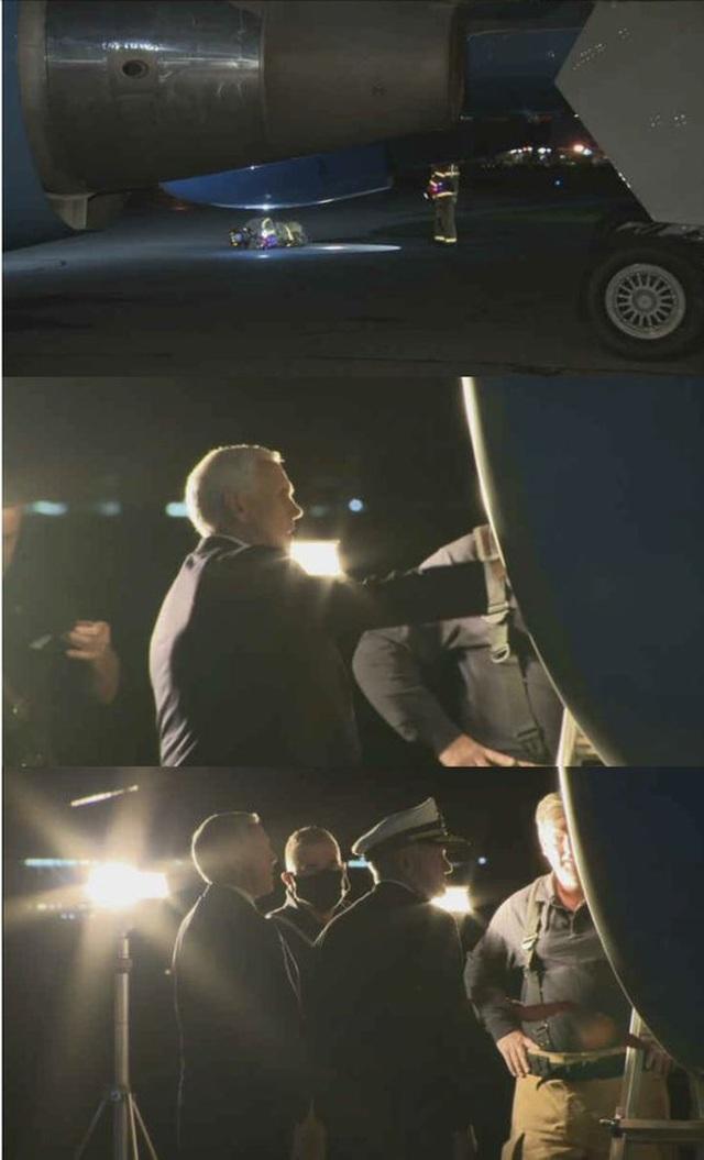 Video chuyên cơ chở Phó tổng thống Mỹ tóe lửa vì đâm phải chim - 1