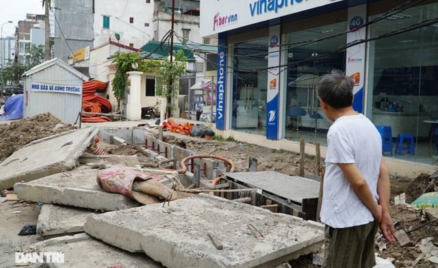 Hà Nội: Hơn 400 mét đường ì ạch thi công gần 3 năm chưa xong - 10