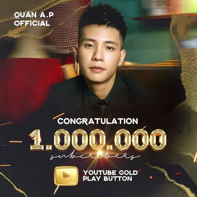 Quân A.P đạt nút vàng Youtube chỉ với 4 MV - 2