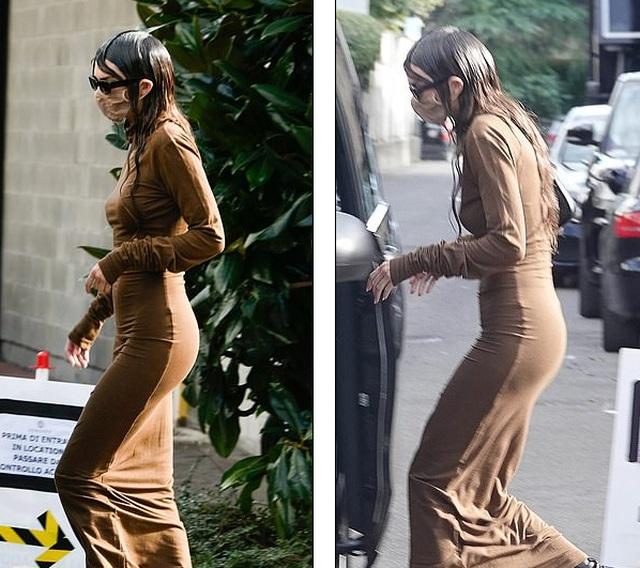 Kendall Jenner mặc đồ già nua và kỳ dị trên phố - 1