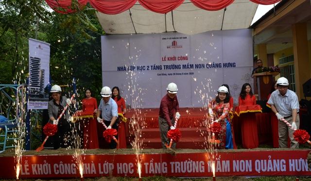 BIC Việt Nam tài trợ xây dựng trường mầm non Quảng Hưng - 1