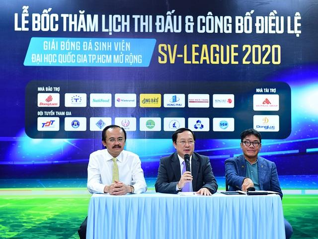 Công bố lịch thi đấu giải bóng đá Sinh viên SV-League 2020 - 1