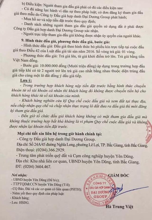 Người dân tố cáo, Công an tỉnh Bắc Giang khởi tố vụ ántại công ty đấu giá - 3