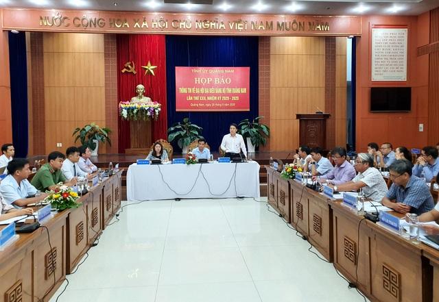 Bí thư và Phó Bí thư Tỉnh ủy Quảng Nam ứng cử nhiệm kỳ mới - 1