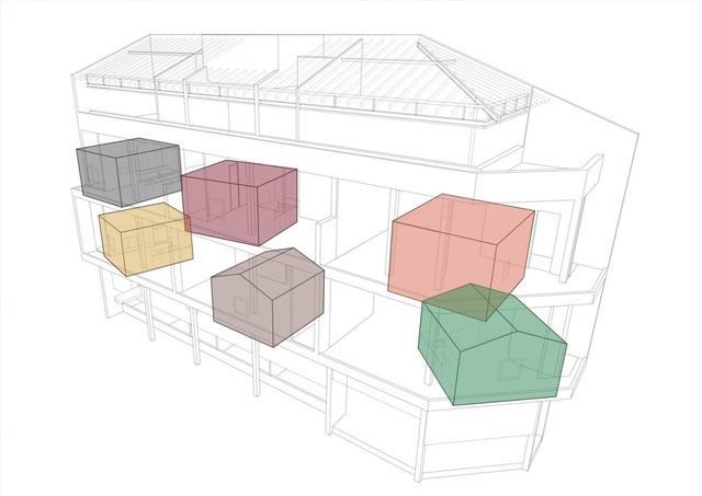 Căn nhà như những tổ chim nhiều màu sắc độc lạ ở Vũng Tàu - 2