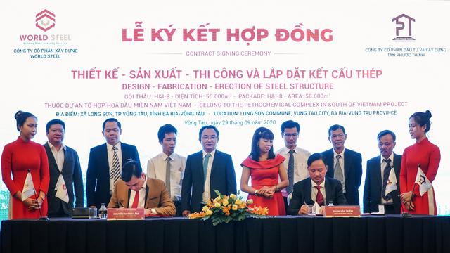 Lễ ký kết hợp tác thiết kế-sản xuất-thi công gói thầu trị giá 10 triệu USD tại dự án Hóa lọc dầu Long Sơn - 1