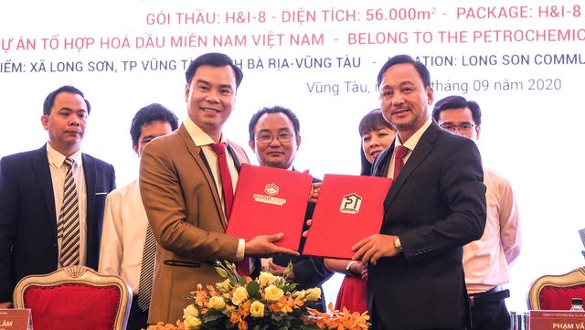 Lễ ký kết hợp tác thiết kế-sản xuất-thi công gói thầu trị giá 10 triệu USD tại dự án Hóa lọc dầu Long Sơn - 2