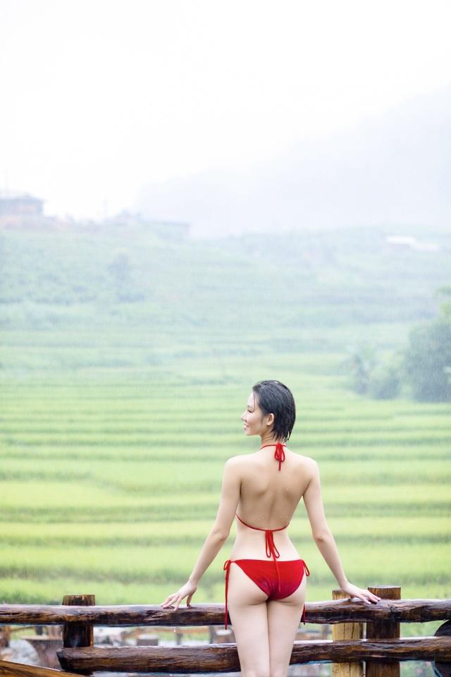 Hoa hậu Du lịch Châu Á mê đắm vẻ đẹp mùa thu Tú Lệ, Mù Cang Chải - 10