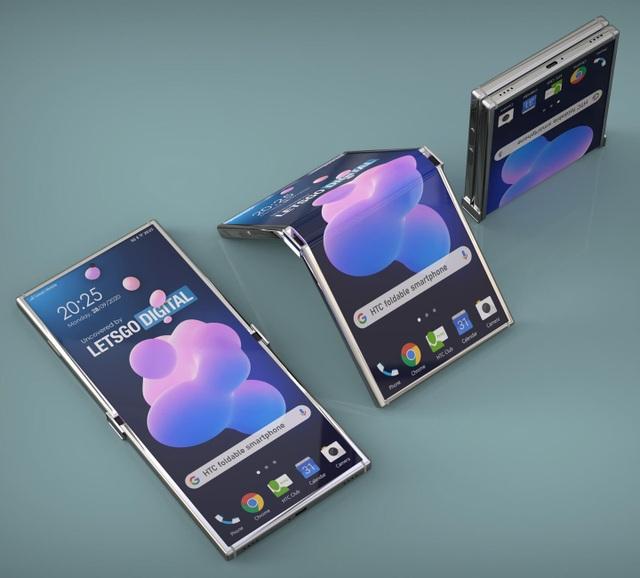 """HTC sắp """"tái xuất"""" với một chiếc smartphone màn hình gập? - 3"""