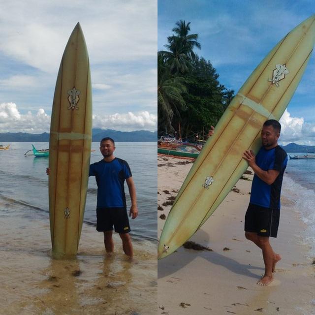Làm mất ván lướt sóng ở Hawaii, bất ngờ tìm thấy ở... Philippines 2 năm sau - 2