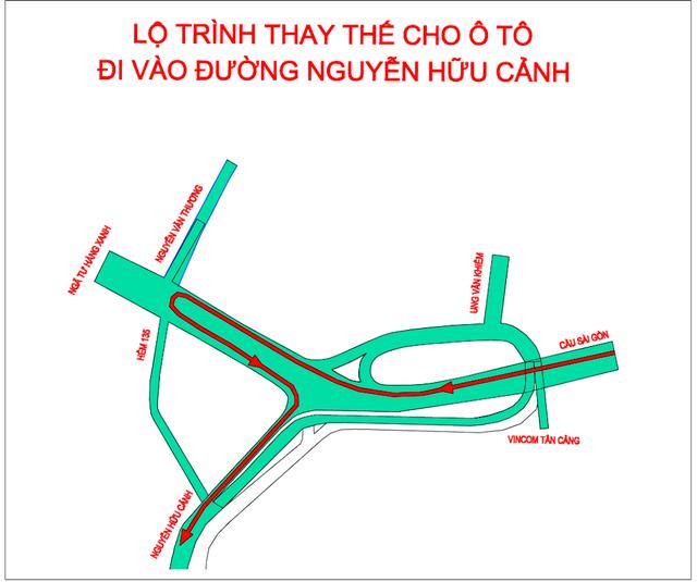 TPHCM: Từ ngày 3/10 cấm lưu thông qua cầu vượt Nguyễn Hữu Cảnh - 2
