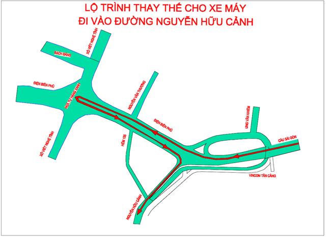 TPHCM: Từ ngày 3/10 cấm lưu thông qua cầu vượt Nguyễn Hữu Cảnh - 3