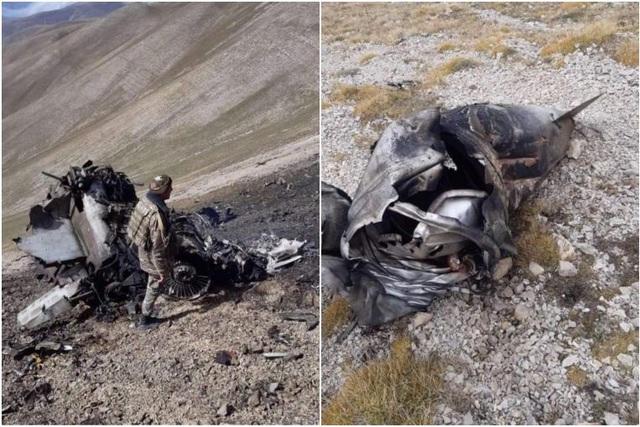 Armenia công bố ảnh máy bay chiến đấu nghi bị Thổ Nhĩ Kỳ bắn rơi - 1