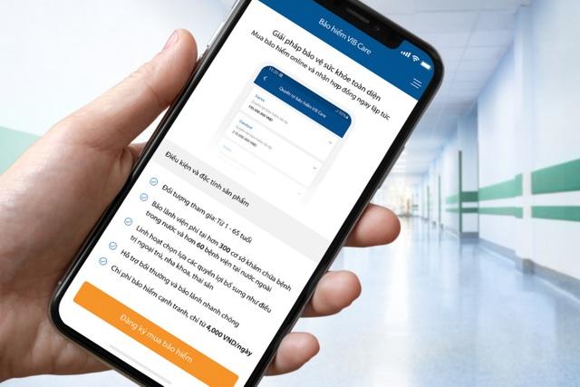 Ngân hàng đầu tiên cung cấp bảo hiểm qua ứng dụng - 2