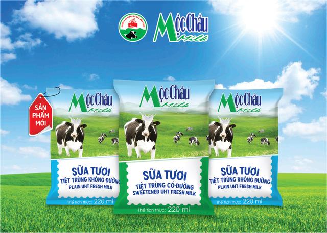 Mộc Châu Milk ra mắt sữa tươi bịch giấy với mức giá tiết kiệm cho cả gia đình - 1